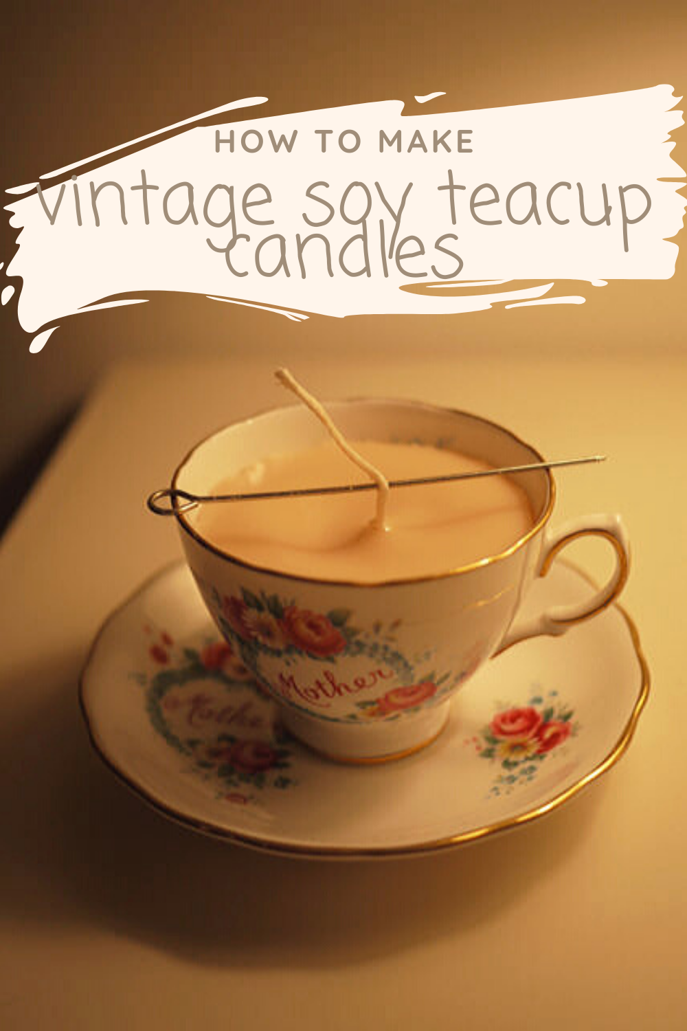 How to make Soy Teacup Candles