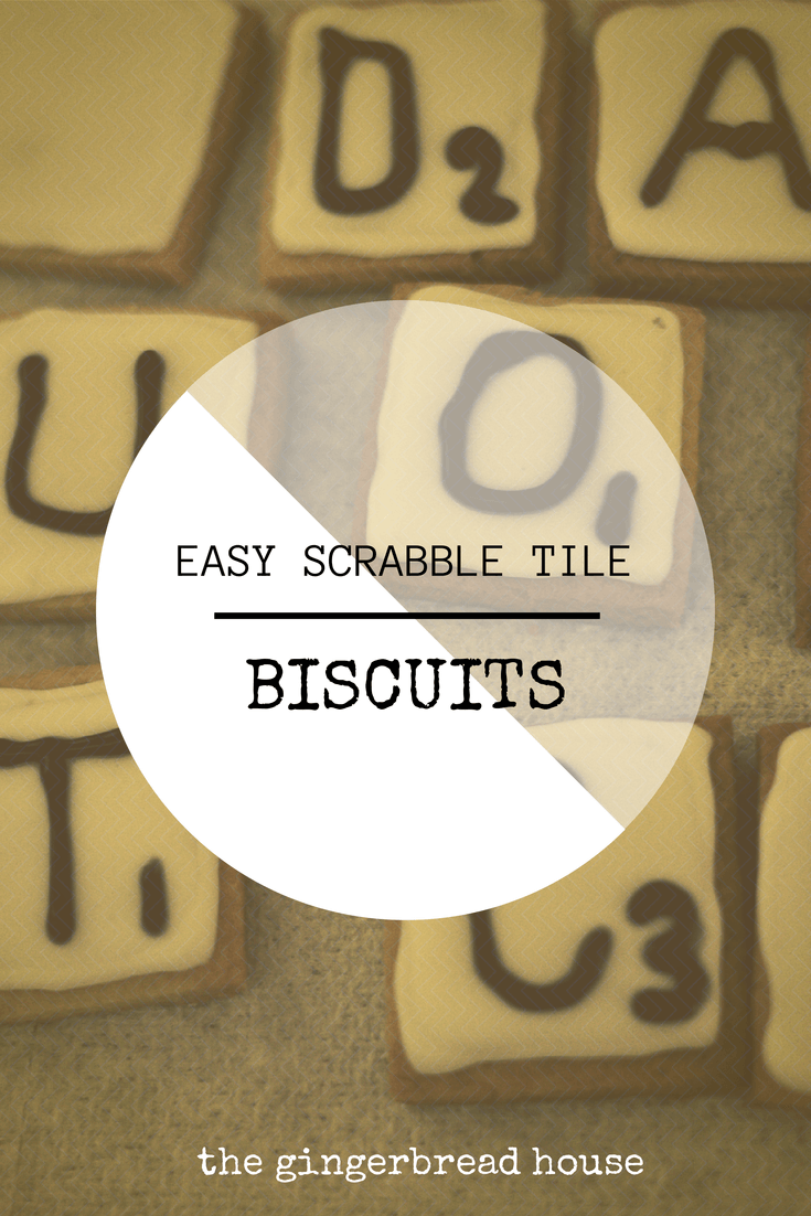 scrabble tile biscuits - the gingerbread house