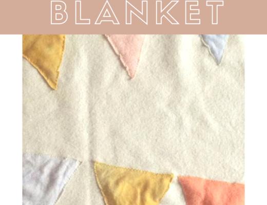 Vintage bunting blanket