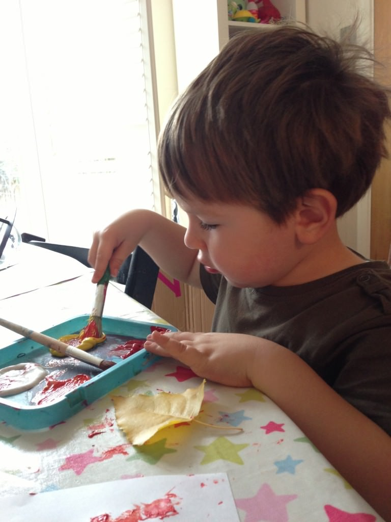 painting with a toddler