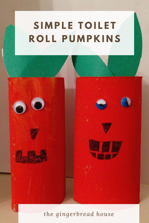 simple toilet roll pumpkins