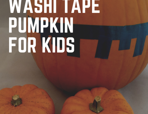 easy washi tape pumpkin for kids