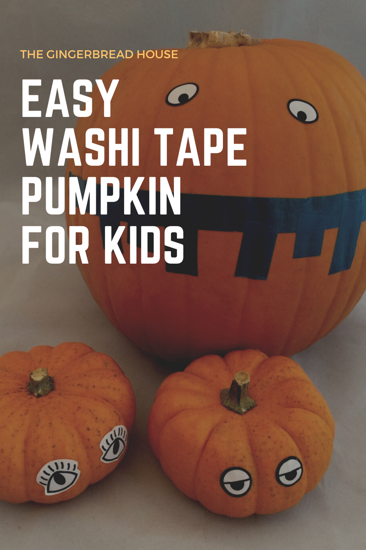 easy washi tape pumpkin for kids