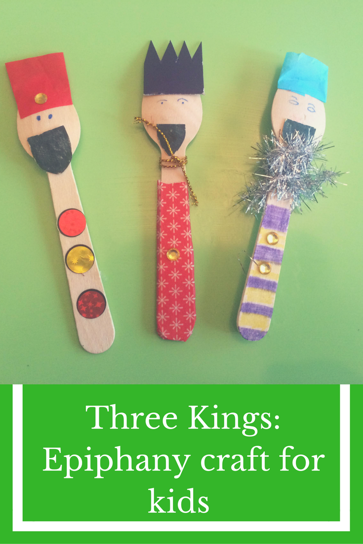 Three Kings Epiphany craft for kids