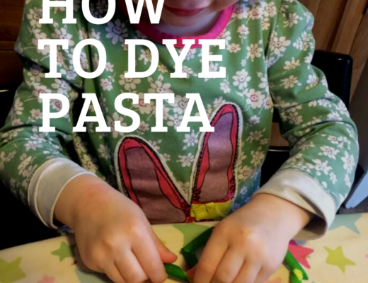 How to dye pasta for kids to play with