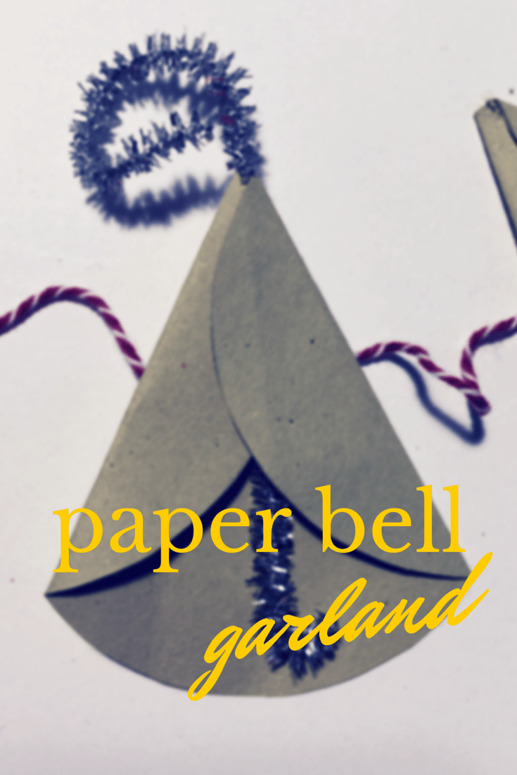 Paper bell garland for New Year