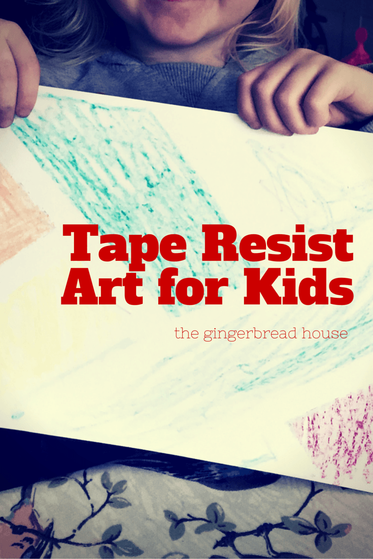 Tape Resist art for kids