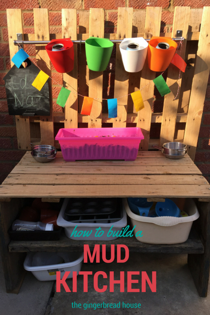 how to build a mud kitchen - the gingerbread house