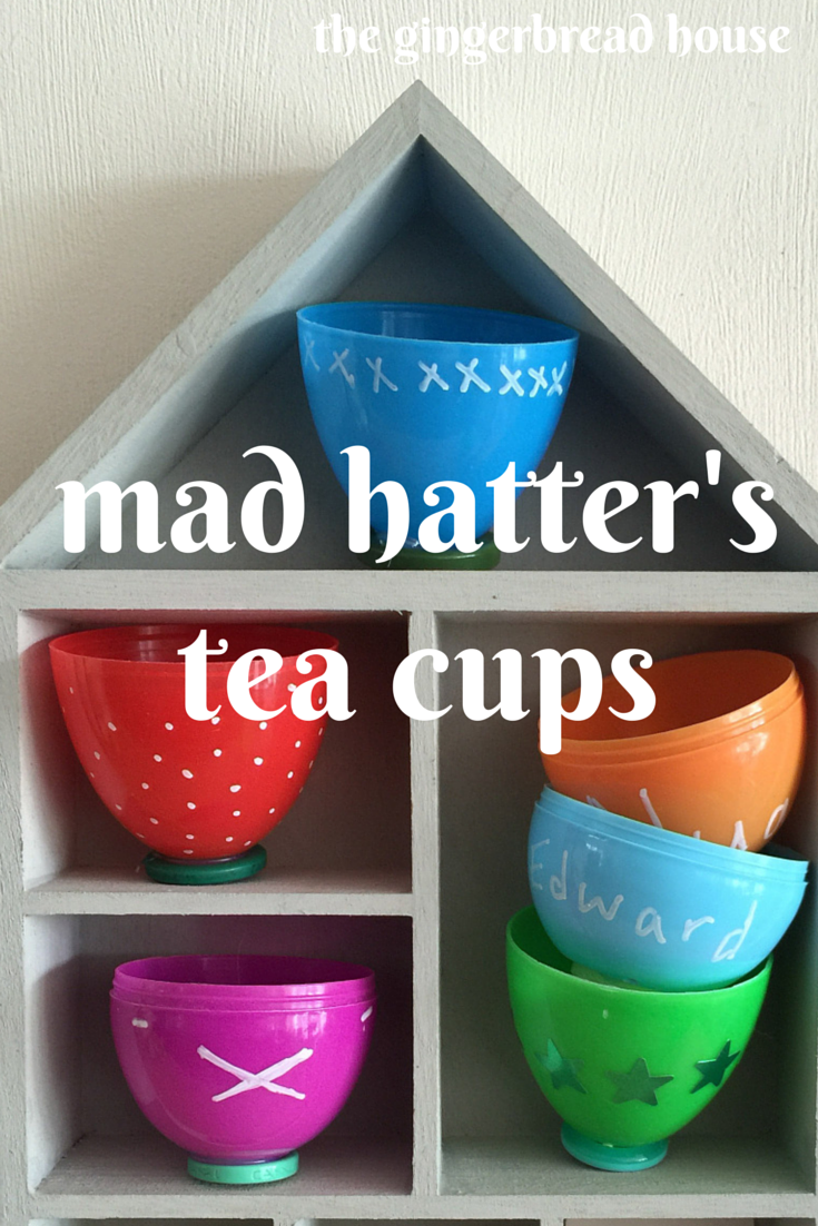 mad hatters tea cups by the gingerbread house