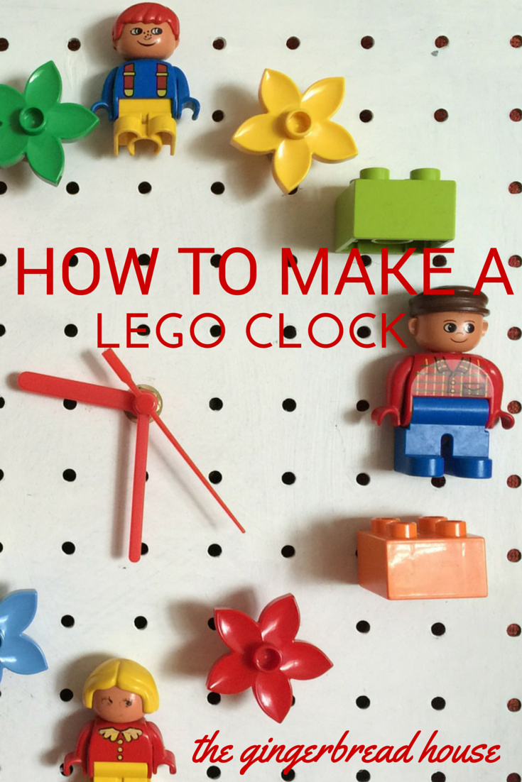 how to make a lego clock - the gingerbread house