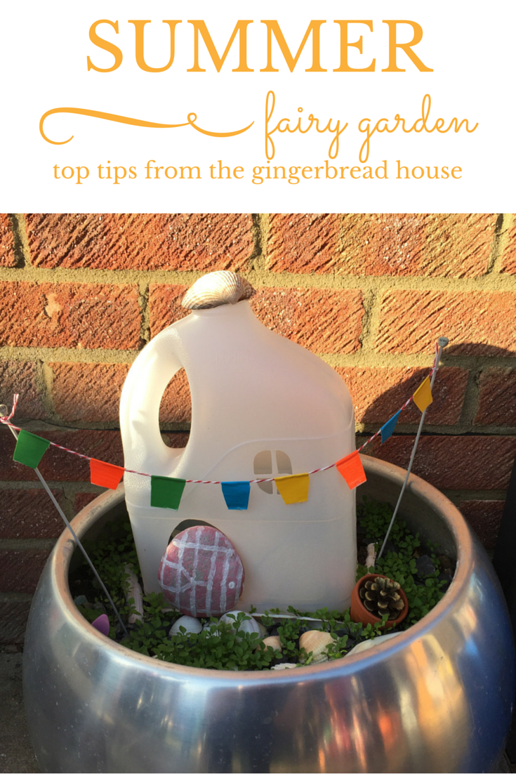 Top tips for creating a Summer fairy garden - the gingerbread house