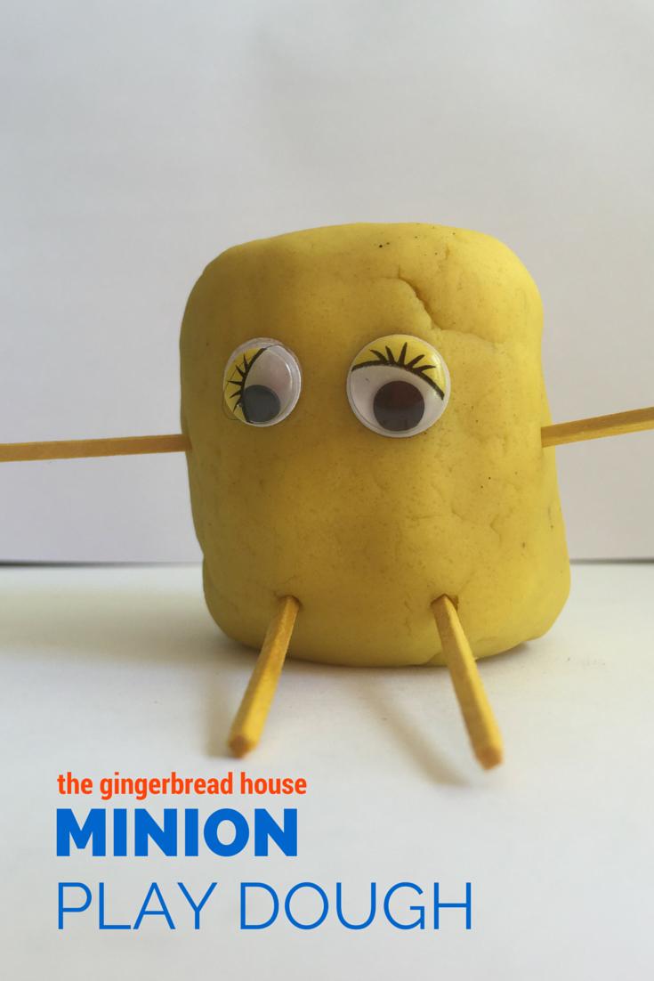minion play dough - the gingerbread house