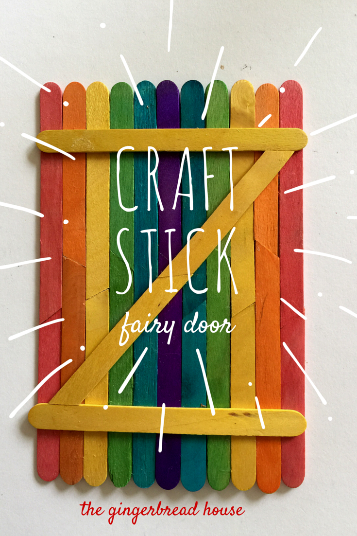 craft stick fairy door - the gingerbread house