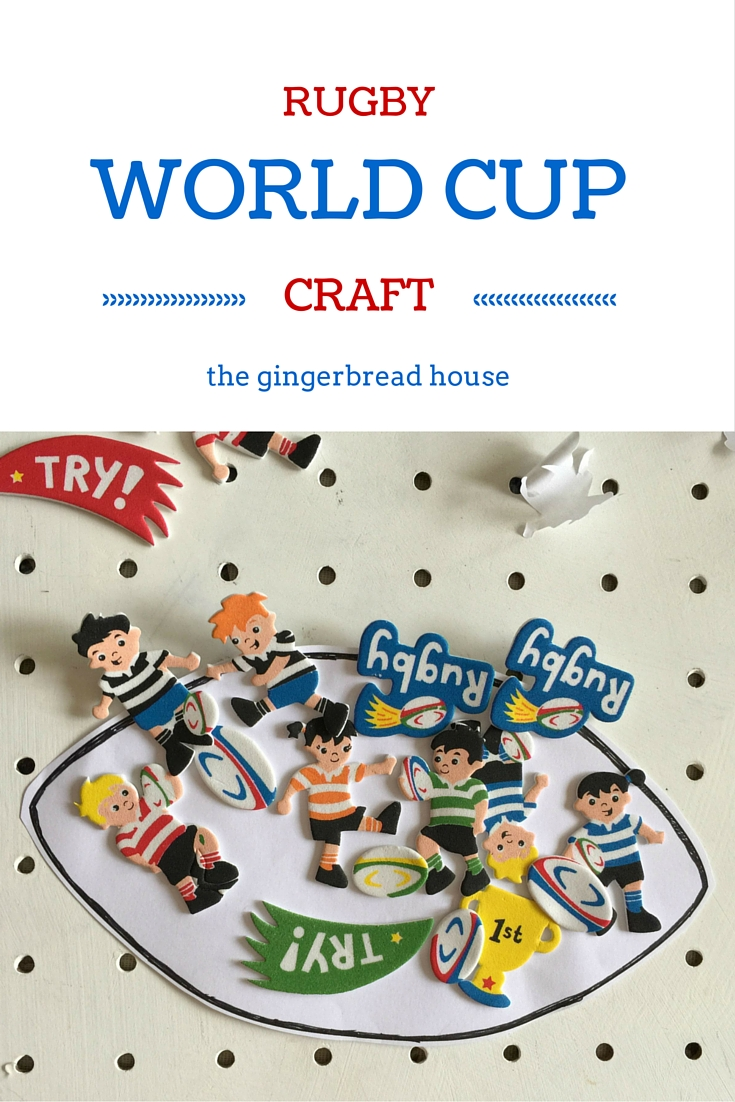 Rugby World Cup craft for kids