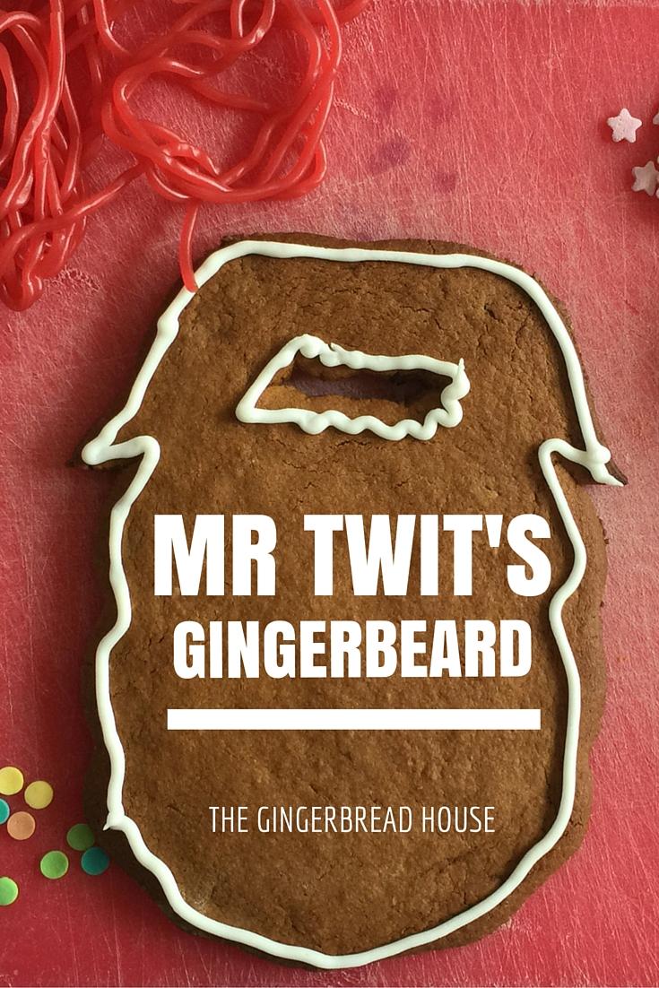 DIY Mr Twits gingerbeard biscuit for Roald Dahl Day