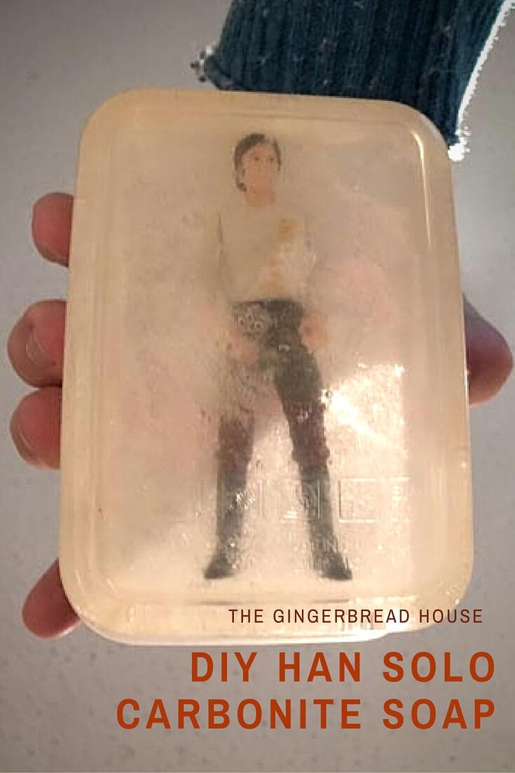 DIY Han Solo Carbonite soap craft