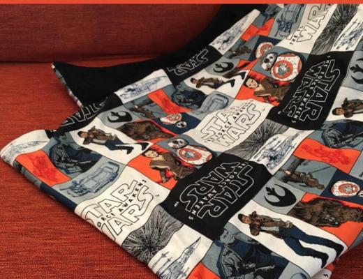 30 minute Star Wars blanket
