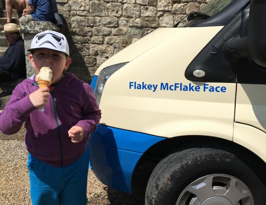 Flakey McFlake Face ice cream van