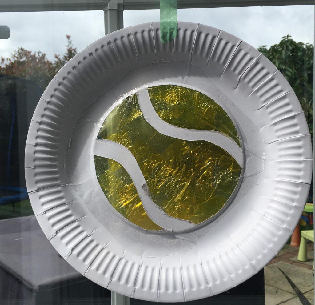 tennis ball sun catcher craft