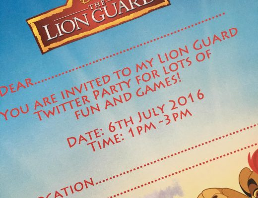 Lion Guard Twitter Party invitation