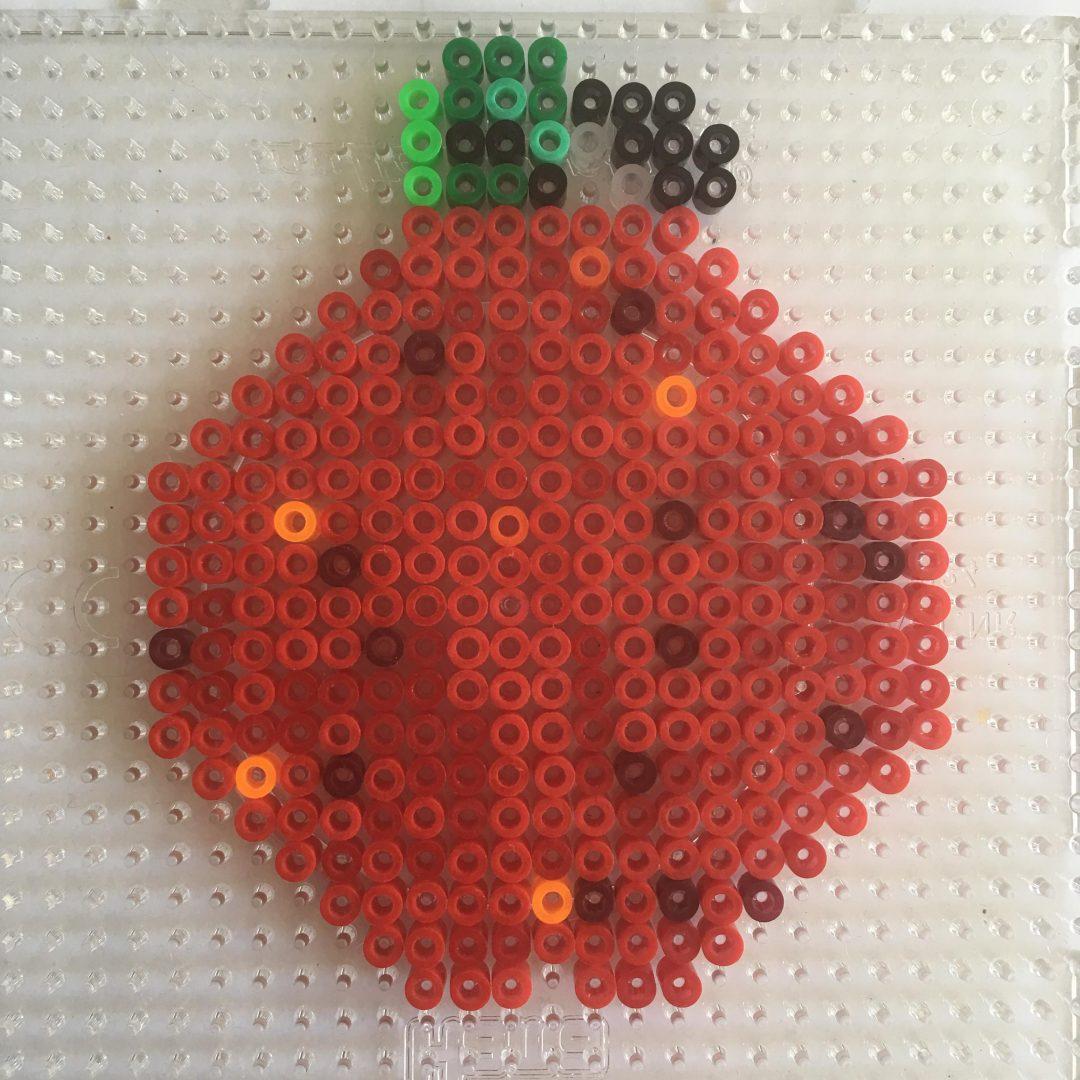 Hama bead apple for teacher craft