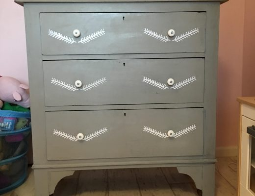 decorating with Annie Sloan stencil and chalk paint