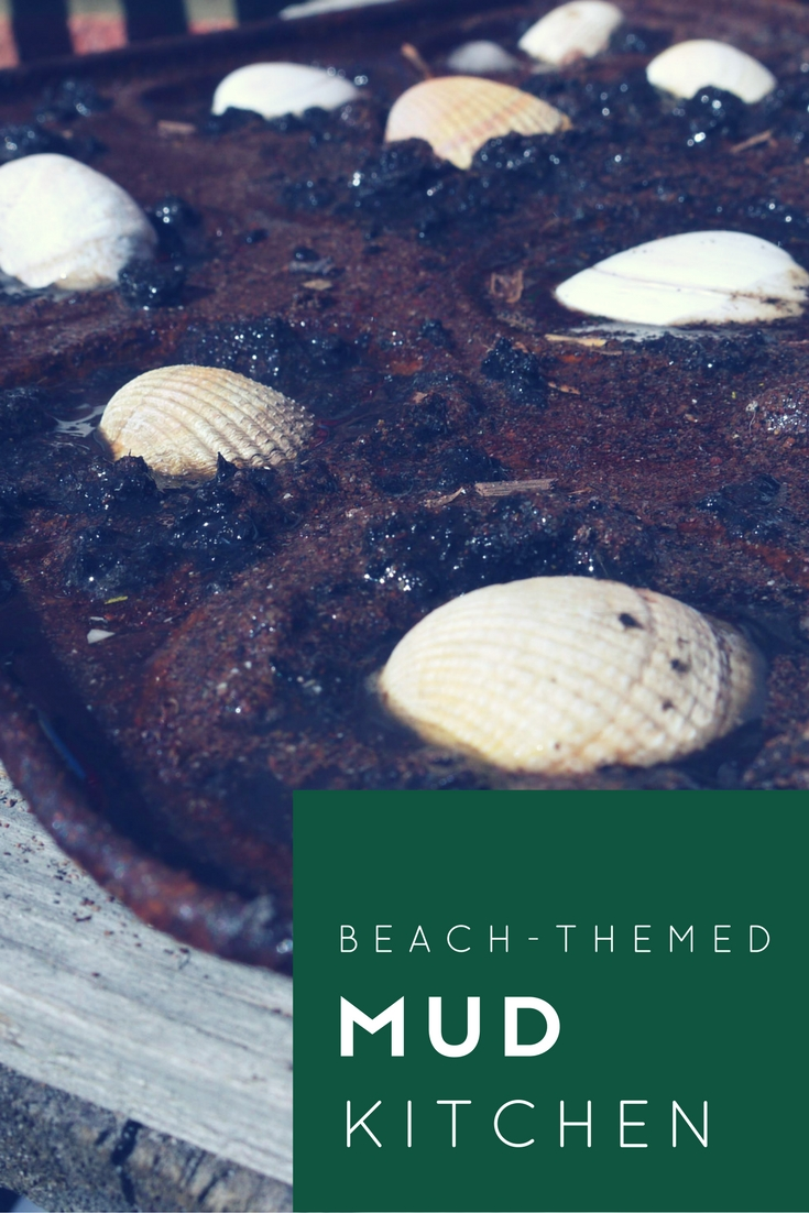 a beach themed mud kitchen Invitation to play