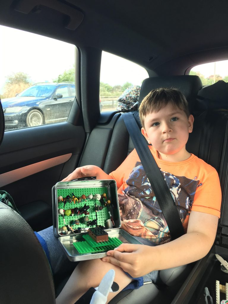Portable Lego Kit for use in car