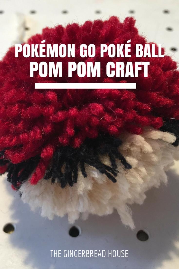 Pokémon Go Poké ball pom pom craft