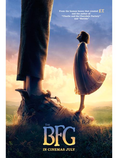 The BFG by Steven Spielberg film poster