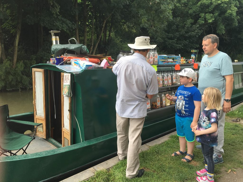 Kennet and Avon Canal sweetie boat