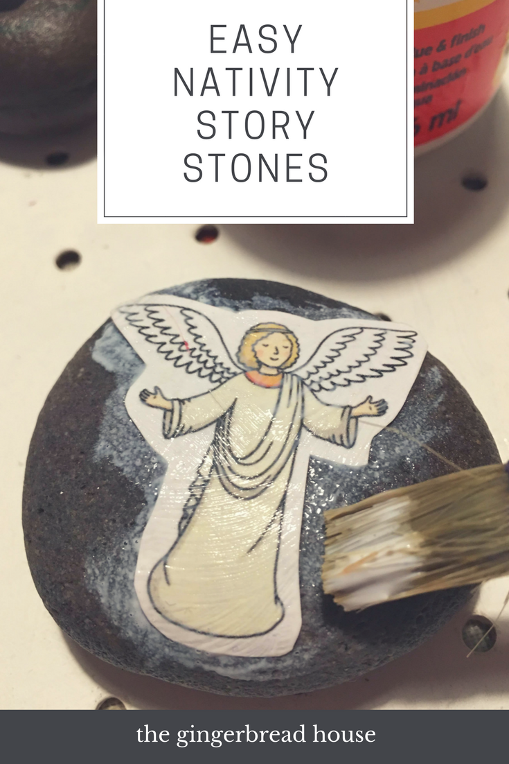 Easy Nativity story stones craft for kids