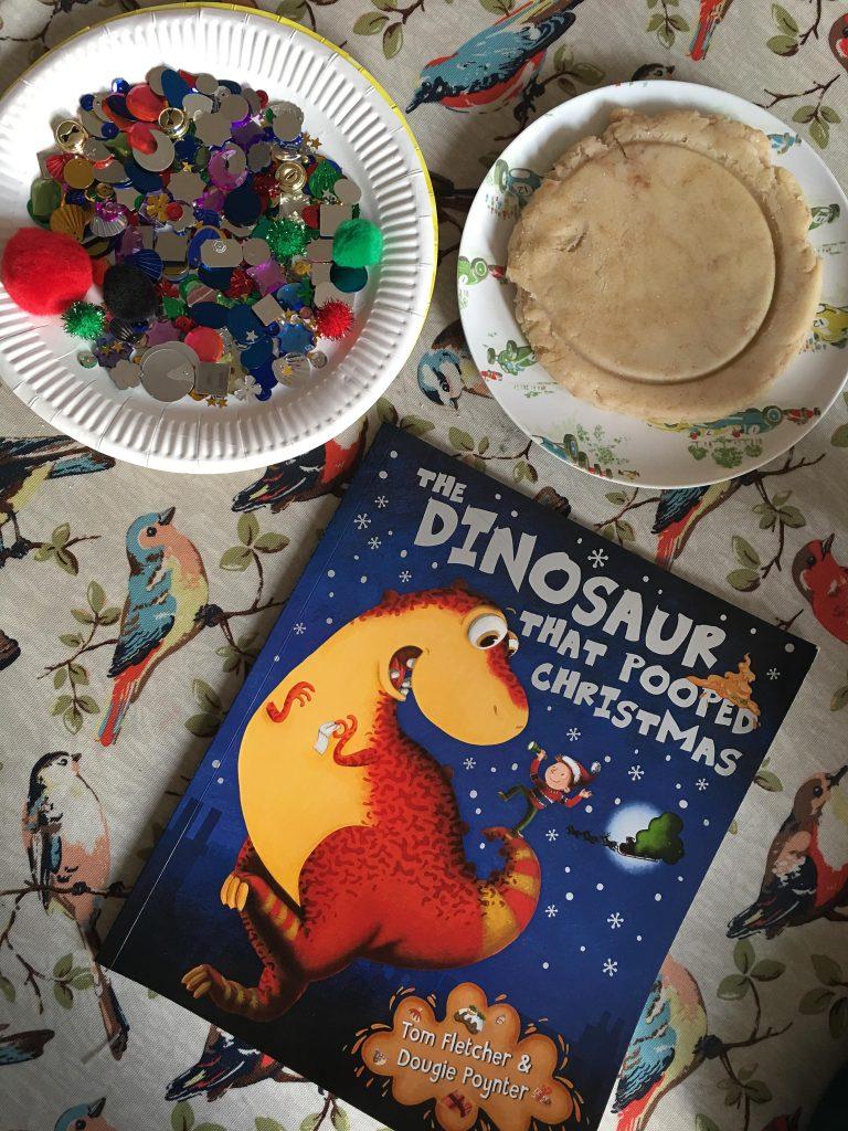 Dinosaur poo playdough {The Dinosaur That Pooped Christmas}