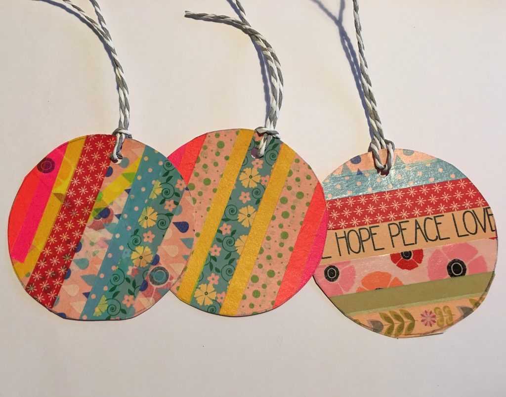 Easy washi tape baubles