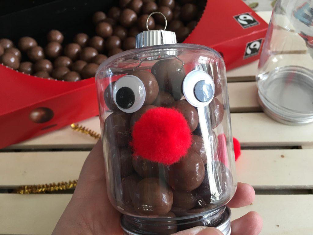 Reindeer nose ornaments
