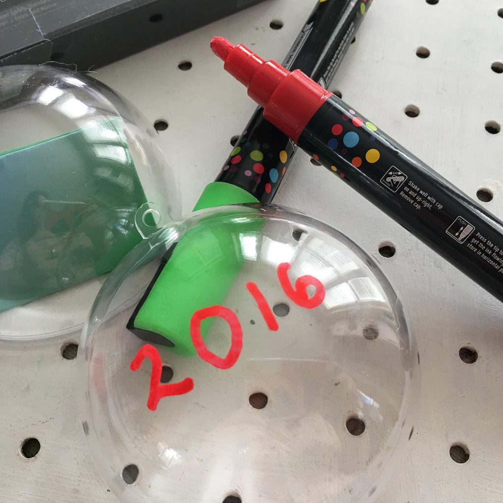 Time capsule baubles for kids