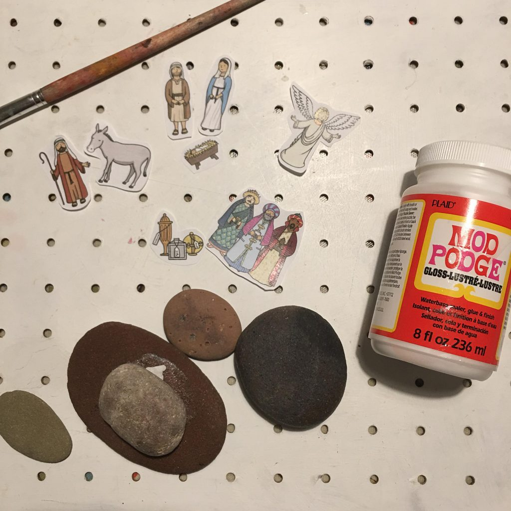 Easy Nativity story stones