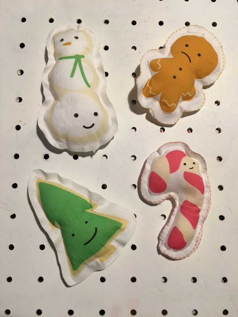 Wild Olive Cookies for Santa Ornament Panel
