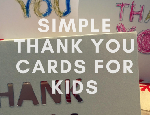 Simple Thank You cards for kids to make {free printable} from the gingerbread house blog