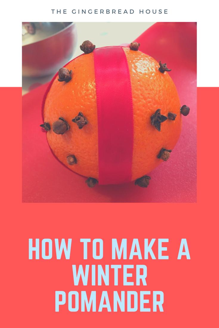 How to make a winter pomander