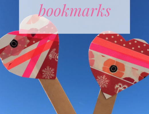 washi tape Valentine heart bookmark