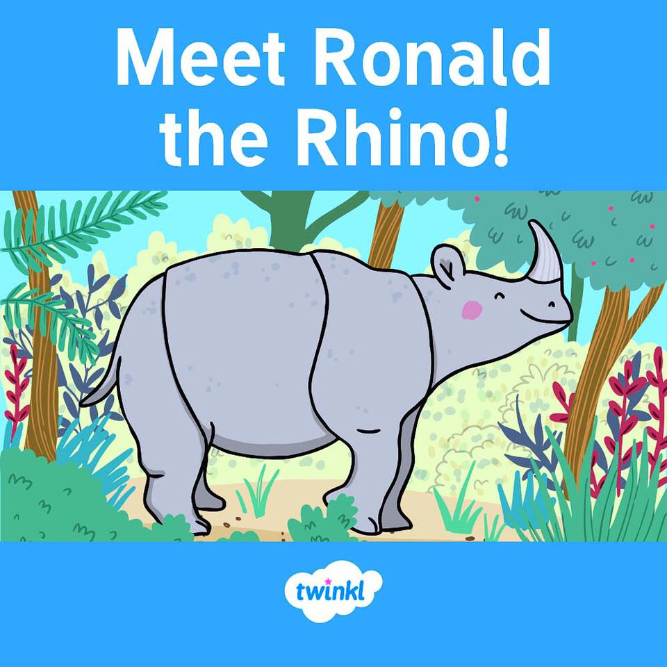 Ronald the Rhino book from Twinkl