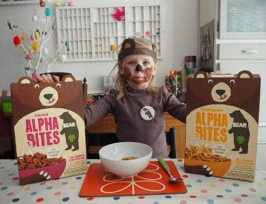 Dressing up for breakfast with BEAR Alphabites