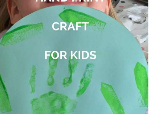EARTH DAY HAND PRINT CRAFT FOR KIDS