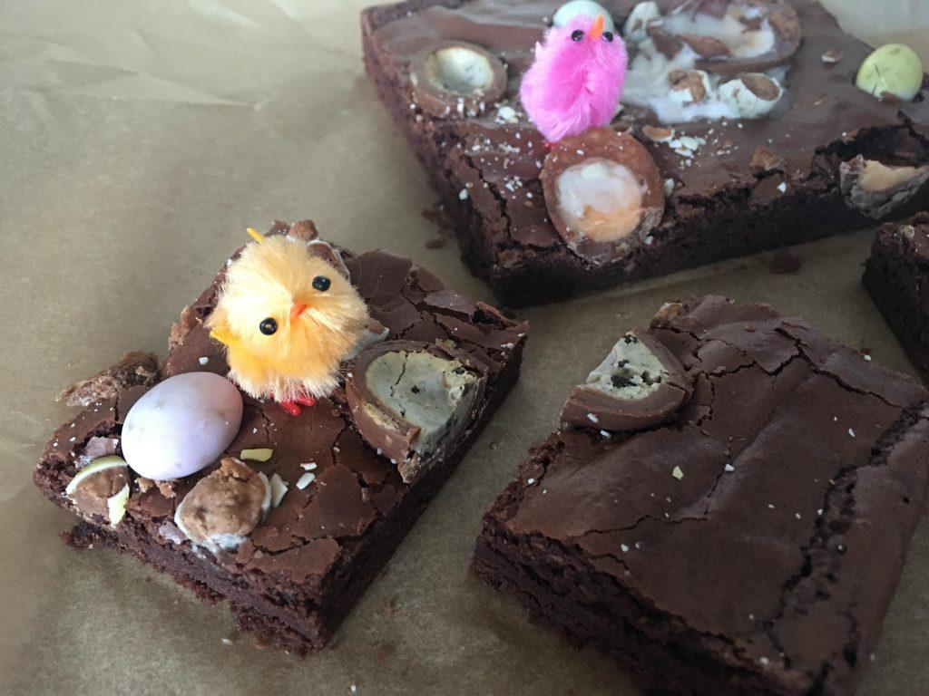 Leftover Easter Egg Brownies