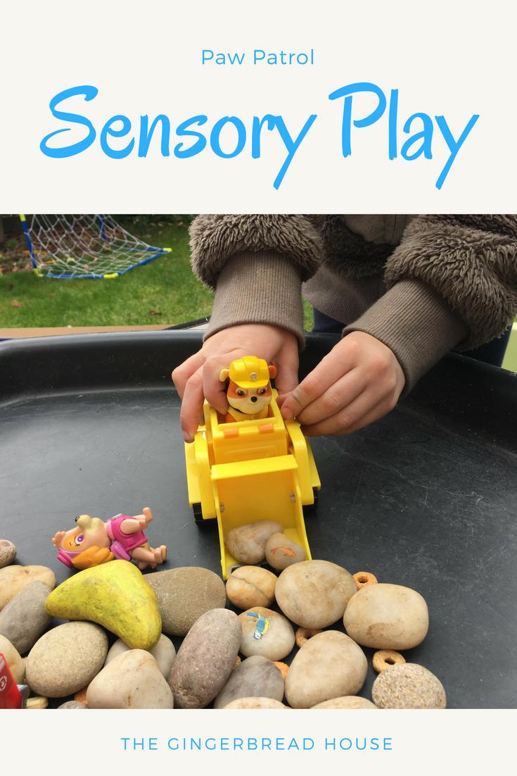 Paw Patrol sensory play