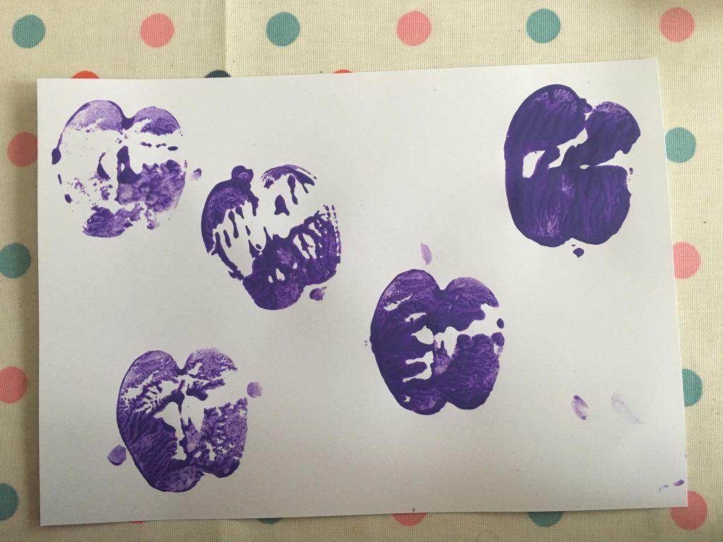 apple print butterflies