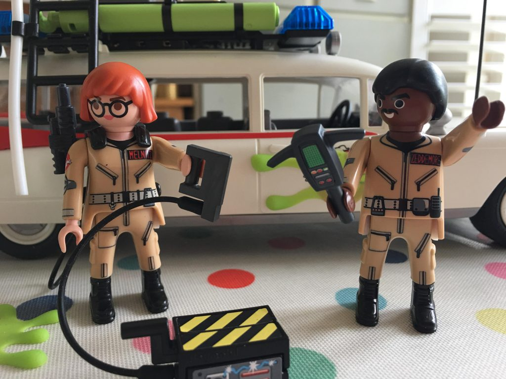 Playmobil Ghostbusters Winston Zeddemore and Janine Melnitz