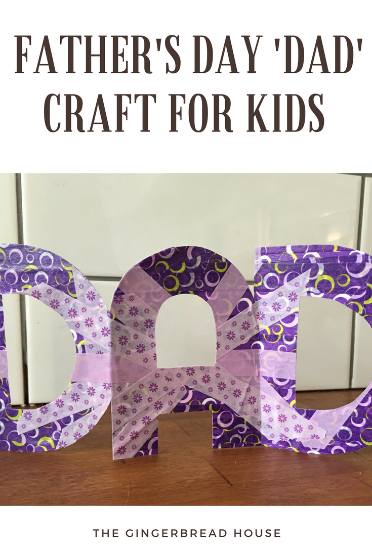 Father's Day DAD craft for kids to make