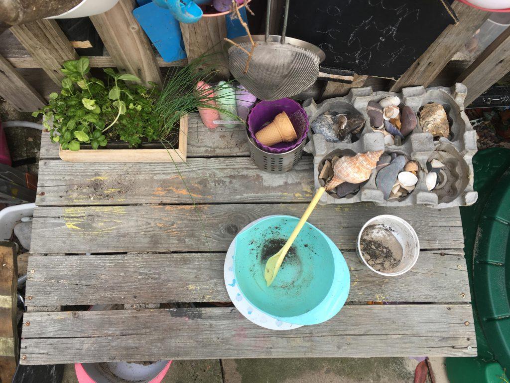 Herb sensory soup for kids